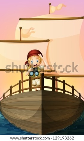 illustration of a pirate girl