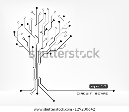 tree abstract shape circuit