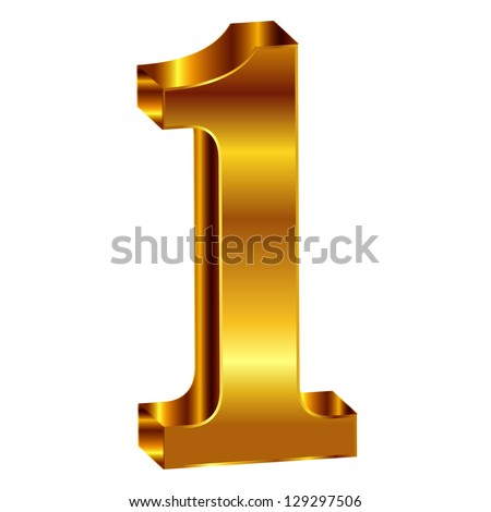 gold emblem number 1