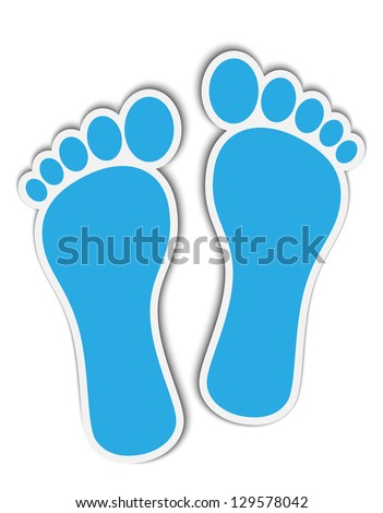 footprint stickers