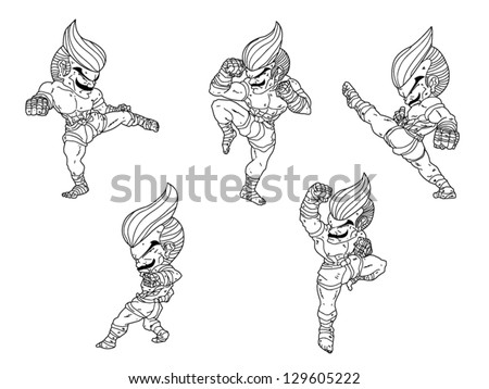 vector illustrations muay thai