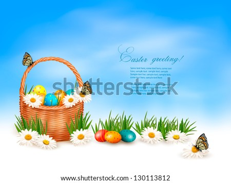 easter background with easter