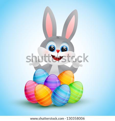 vector cute easter bunny