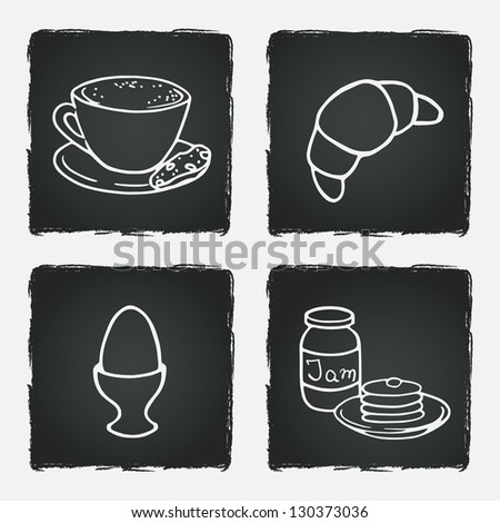 breakfast set with coffee cup