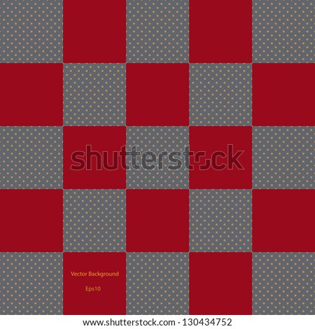 red checkered pattern with