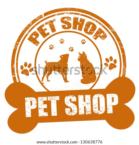 pet shop grunge rubber stamp on