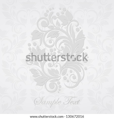 floral easter egg background
