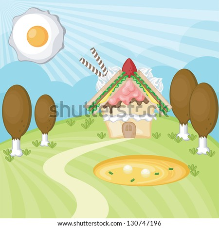food landscape  create by vector