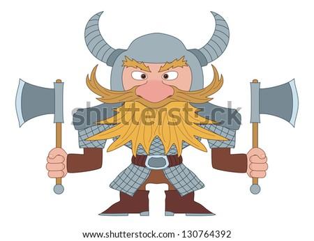 dwarf  redhead warrior in armor