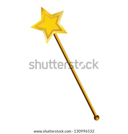 magic wand  isolated on white