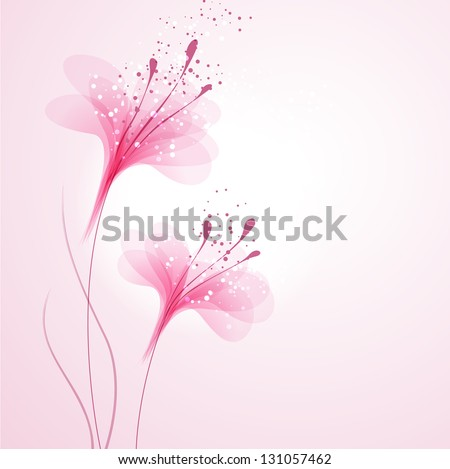 vector background with pink