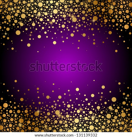 vector purple and gold luxury