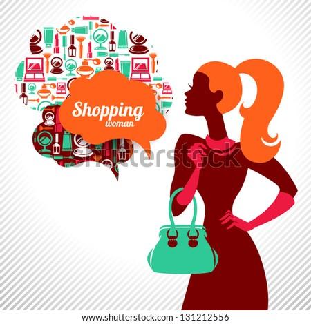stock-vector-shopping-woman-elegant-stylish-design