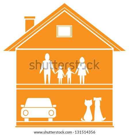 isolated cottage symbol with