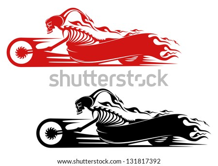 death monster on motorcycle for