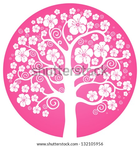 spring flowering tree with
