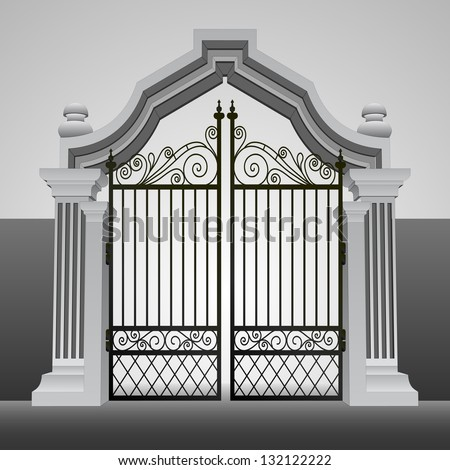 baroque entrance gate with