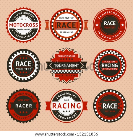 racing insignia   vintage style