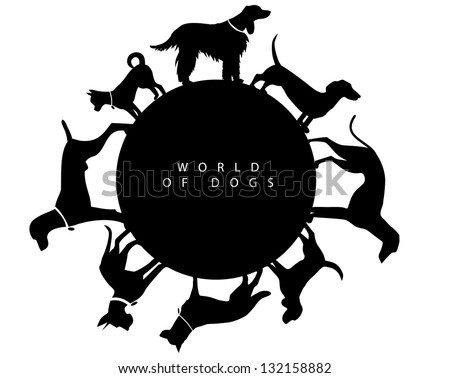 world of dogs graphic element