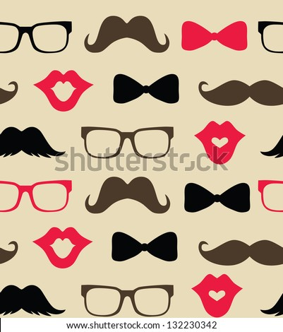 retro pattern design vector