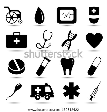 vector set of medical icons on