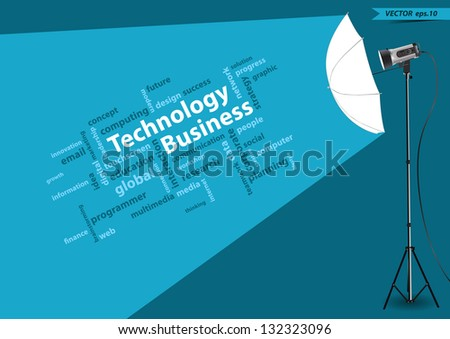 technology business concept of