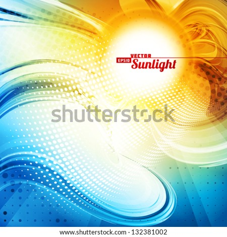 sunlight abstract artistic