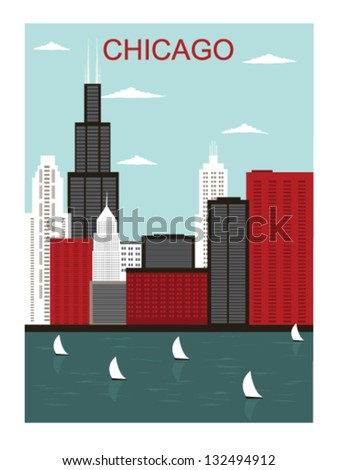 chicago city vector