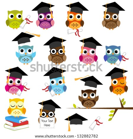 vector set of cute school and