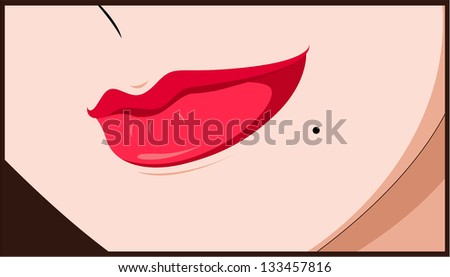 woman's lips   see vector