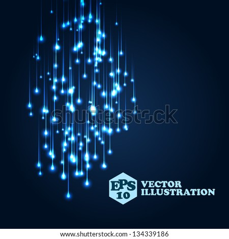 blue space lights illustration