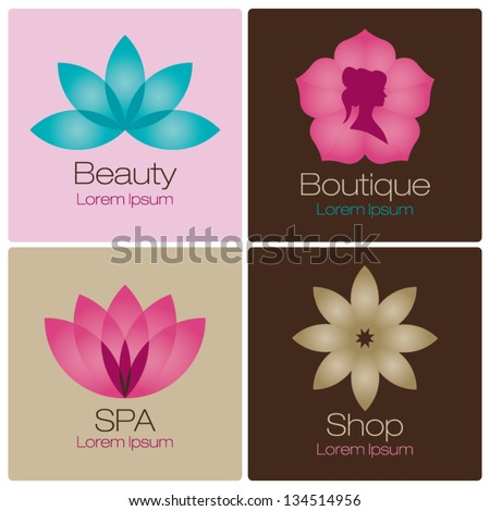 flowers design vector for spa