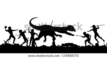 editable vector silhouette of