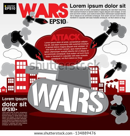 war concept illustration vector