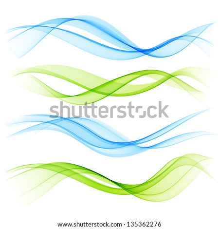 set of blend abstract wave