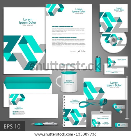 free editable corporate identity template free vector download