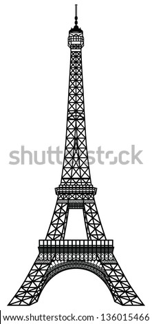 eiffel tower black silhouette