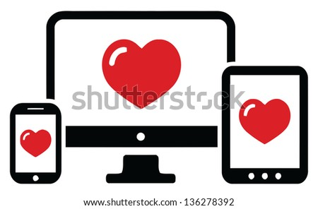 love computer device set