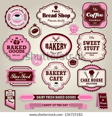 vintage frame cupcake  bakery
