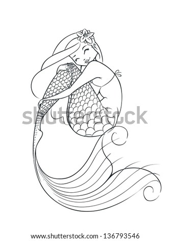 mermaid fairy tale character