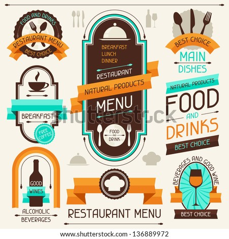 restaurant menu  banners and