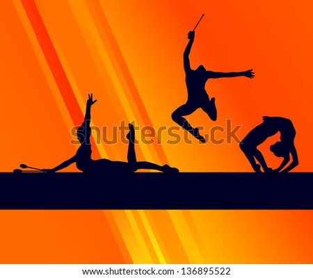 rhythmic gymnastics woman with