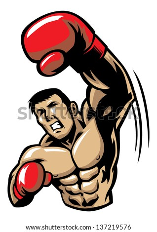 boxing man punch