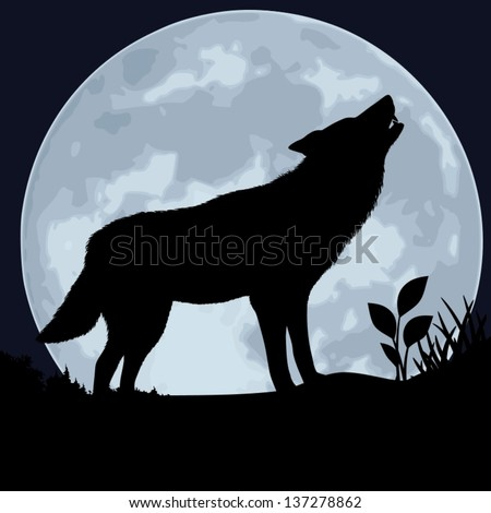 wolf the black silhouette of a