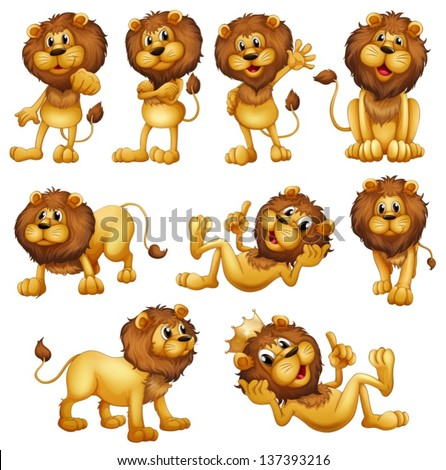 illustrations of the lions in