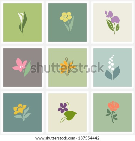 flower elements for design