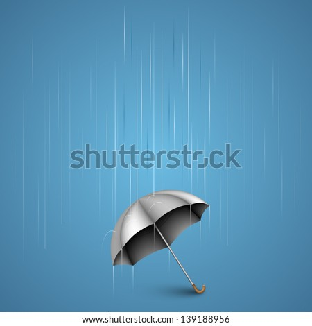 umbrella with heavy rain