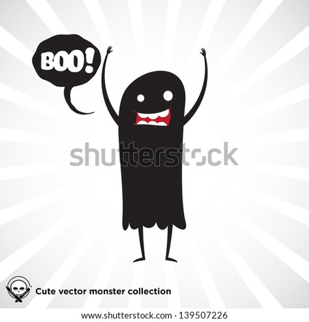 cute little black monster for