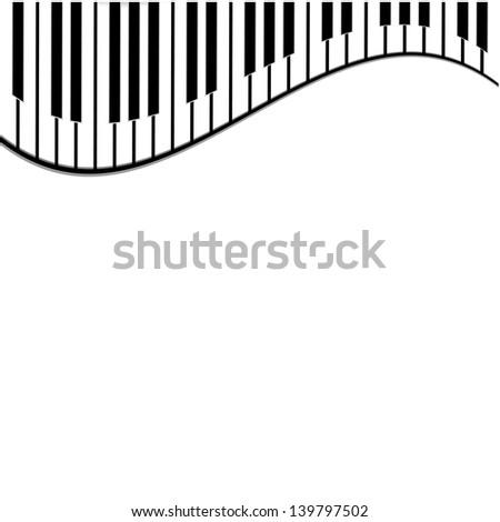 piano keys on a white