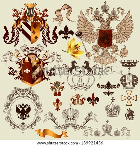 vector set of luxury royal